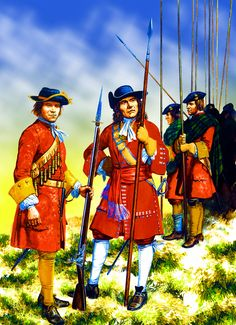 British Earl of Angus' Regiment and Earl of Argyll's Pikemen during the Jacobite Rebellion