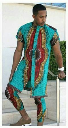 Let's talk dashiki fashion outfits – AnkaraLovers It's another Lovely month and we are excited […] African Inspired Fashion, African Print Fashion, Ethnic Fashion, Mens Fashion, Fashion Outfits, African Attire, African Wear, African Women, African Dress