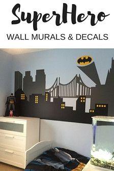 City Skyline Wall Decal for kids room or nursery boys room decor idea