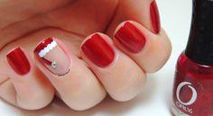 Santa's hat nails - Christmas Nails - Festive nails