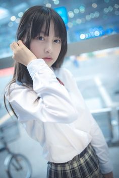 Check out these Japanes theme cosplay characters. Cute School Uniforms, School Uniform Girls, Japanese Beauty, Asian Beauty, Japan Outfit, Japanese School Uniform, Pretty Asian, Cute Beauty, Japan Girl
