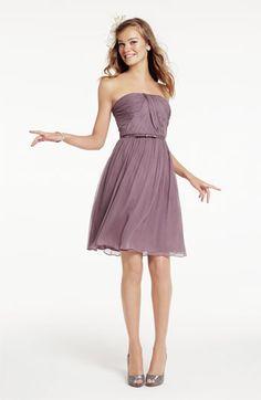 Donna Morgan Belted Chiffon Dress | Nordstrom