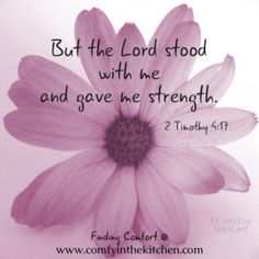 2 Timothy 4:13 The Lord stood with me.