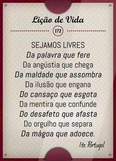 SEJAMOS LIVRES DA ANGUSTIA QUE FERE, DA ANGUSTIA QUE CHEGA, DA MALDADE QUE ASSOMBRA…...