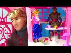 Frozen CASTLE HUNTERS Disney Princess Anna and Kristoff New Barbie Dreamhouse DisneyCarToys - YouTube