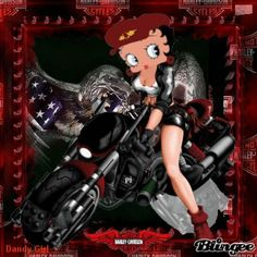 betty boop biker cards