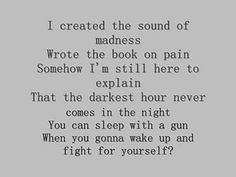 """From this song (Shinedown's """"Sound of Madness""""), I took the lyric for my artwork possibility--""""...The darkest hour never comes in the night..."""" Across my left hip."""