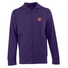 Men's Clemson Tigers Signature Full-Zip Fleece Hoodie, Size: Large, Purple