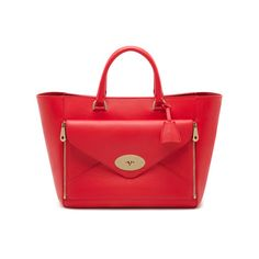 Mulberry - Willow Tote in Hibiscus Silky Classic Calf
