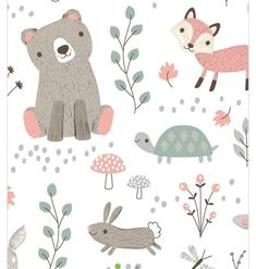 Decorate baby's room with nursery fabric prints for bedding, clothing or decor. Our nursery fabric is available in a variety of cute patterns & styles to match your theme. Minky Baby Blanket, Baby Boy Blankets, Baby Swaddle, Woodland Animal Nursery, Woodland Animals, Nursery Fabric, Nursery Art, Baby Illustration, Woodland Illustration