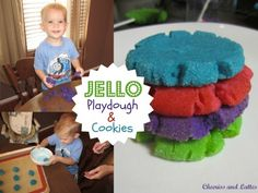 Jello-flavored sugar cookies. The batter works just like playdough. Play with your food, then bake and eat.