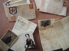 Miniature Civil War Love Letters by LDelaney on Etsy, $8.50. What a neat idea.