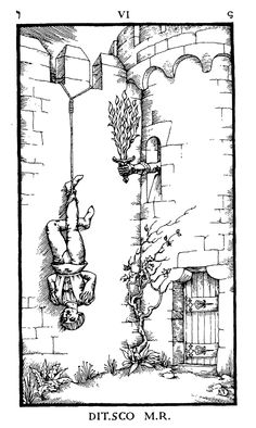 The Ninth Gate: occult and tarot-like symbolism in the engravings by Aristide Torchia and Lucifer, plus wider meanings of the movie – David J Rodger ¦ Science Fiction & Dark Fantasy Hanged Man Tarot, The Hanged Man, Johnny Depp, The Ninth Gate, Tarot Tattoo, World Mythology, Occult Art, The Nines, Archetypes