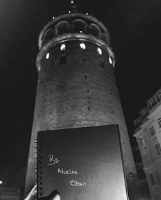 Galata❤️ Cute Black Wallpaper, New Wallpaper, Istanbul City, Historical Quotes, Aesthetic Iphone Wallpaper, Cool Words, Tower, Pictures, Photography