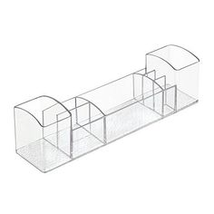 InterDesign Med Bathroom Medicine Cabinet Organizer for Electric Toothbrush Toothpaste Vitamins Makeup  Clear * Click image to review more details.