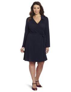 Star Vixen Womens Plus-Size Full Wrap Dress