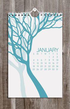 2015 Wall Calendar / Botanical