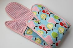 Patterns for Making Oven Mitts | We'll call it, ' The Double Oven Mitt '