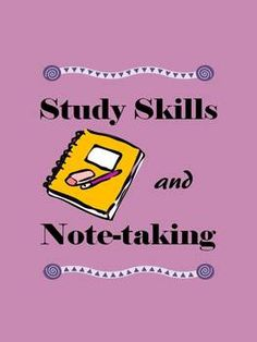 Study Skills and Note-taking. Covers good study habits and Cornell-style note-taking. Review game included.