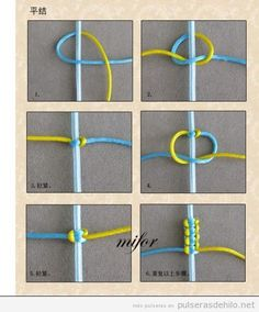 Tutoriel pas a pas, comment creer un bracelet simple de queue de rat - Tap the link now to see where you can find the top trending items for your own fly! You can make with embroidery thread, affordable string or even yarn. Great project to make with kid Square Knot Bracelets, Diy Bracelets Easy, Bracelet Crafts, Jewelry Crafts, Crochet Bracelet, Braclets Diy, Bracelet Making, Jewelry Making, Macrame Jewelry