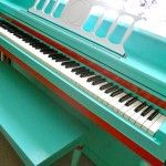 """Loving all the painted pianos I see lately... someday the studio will have only acoustic painted pianos... missing my """"purple piano""""  right about now..."""