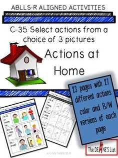 ABLLS-R Aligned Activities: C35 Actions at Home