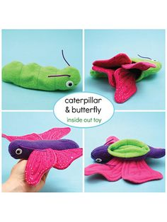 A reversible toy every little one will love! See that cute little green caterpillar? She has a secret! When you turn her inside out, she transforms into a sparkly purple butterfly! Designed by Abby Glassenberg, this clever softie is fun to make and...