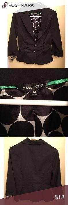 Maurices blazer Maurices black blazer. Size medium. Gently used. Maurices Jackets & Coats Blazers