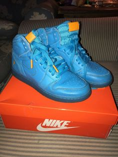 a21de4a0a87 Air Jordan 1 Gatorade Blue Lagoon Size 12 Condition is Pre-owned.