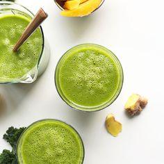 Mango Ginger Kale Green Smoothie