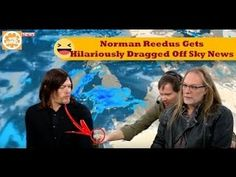 Norman Reedus Gets Hilariously Dragged Off Sky News   Full Video!