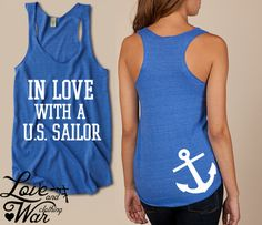 In love with a U.S. Sailor racer back tank top - Love & War Clothing