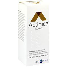 ACTINICA Sonnenschutz Lotion:   Packungsinhalt: 100 g Lotion PZN: 01617665 Hersteller: Galderma Laboratorium GmbH Preis: 15,19 EUR inkl.…