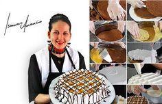 24 DICAS DE CONFEITARIADA ISAMARA AMÂNCIOpara bolos perfeitos. Aqui tem dicas de como assar, untar, cortar, rechear e congelar os seus bolos. Confira! Other Recipes, Sweet Recipes, Cake Recipes, Pastel Cakes, Biscuits, Fondant Tutorial, Food Decoration, Cake Boss, Diy Cake