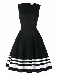 Vestido, vestido preto, vestido listras, vestido preto e branco,