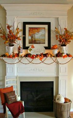 Fall Autumn mantle.... gorgeous
