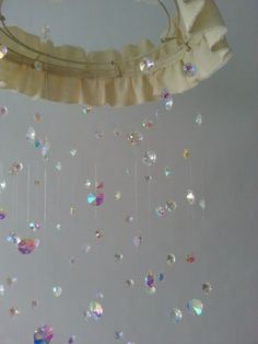 Crystal Chandelier Nursery Baby Mobile Shabby Chic Nursery Crystal Photography Prop