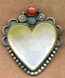 Mother of Pearl heart