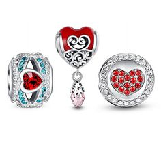 """Crystal Love Charm Set❤Use Coupon code """" PIN5 """" ,Get 5% OFF on all products on www.glamulet.com"""