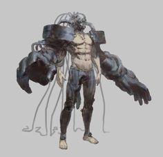 Explore the Gantz collection - the favourite images chosen by davalcordub on DeviantArt. Character Creation, Character Concept, Character Art, Superhero Design, Robot Design, Robot Concept Art, Robot Art, Mode Cyberpunk, Cyberpunk Character