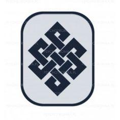 Amulet tybetański  symbol szczęścia 60x80 lustro