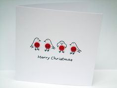 Christmas+Card+-+Button+Robins+Christmas+Card £2.70