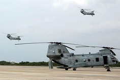 CH-46E Sea Knight helicopters