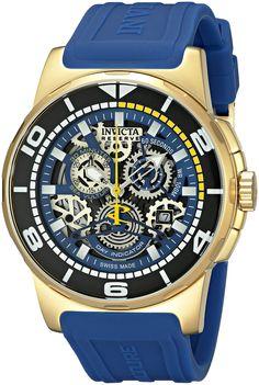 Invicta Men's 18948 Reserve Analog Display Swiss Quartz Blue Watch