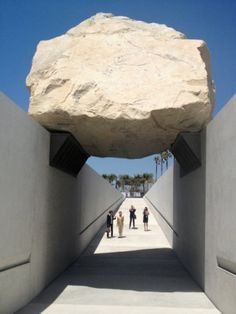 Levitated Mass, Michael Heizer's new installation at the Los Angeles County Museum of Art