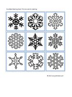 Snowflake Matching Cards - Pinned by @PediaStaff – Please visit http://ht.ly/63sNt for all (hundreds of) our pediatric therapy pins