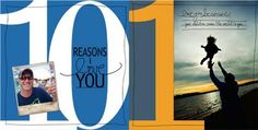 "LOVE this for Father's day or birthday gift - ""10 Reasons I Love You"" photobook from the family."