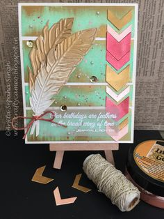 Inka gold feather card