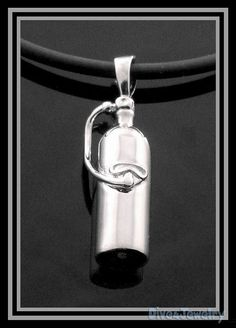 Sterling Silver 3D Scuba Dive Tank Pendant by Dive4Jewelry on Etsy, $35.00