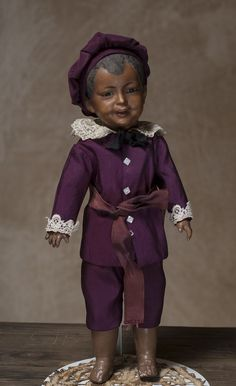 14 (35 cm) Rare French Smiling SFBJ Character Mulatto Boy Doll from respectfulbear on Ruby Lane